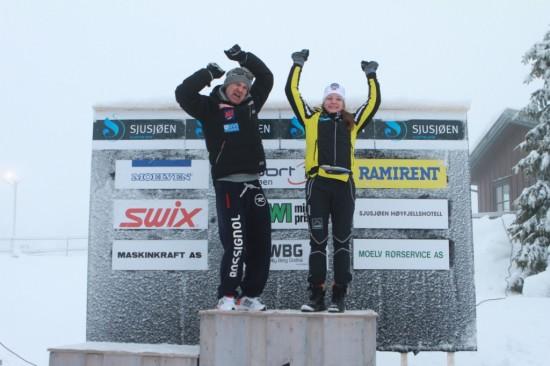 Øystein Pettersen og Maiken Kaspersen Falla vant Romjulsrennet Sjusjøen 2012
