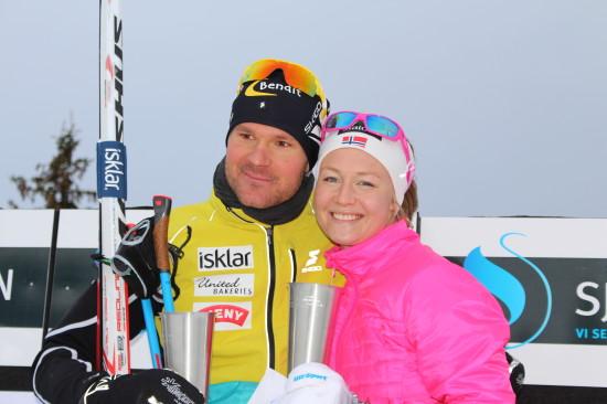 Vinner av Romjulsrennet Sjusjøen 2014 ble Øystein Pettersen og Tuva Toftdal Staver.